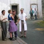Les acteurs en pose pendant réglage de lumière (c) Sylvie Robin